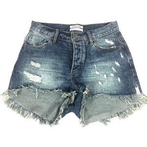 One Teaspoon High Waist Shorts